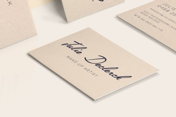 Julie Declerck Business Card Front