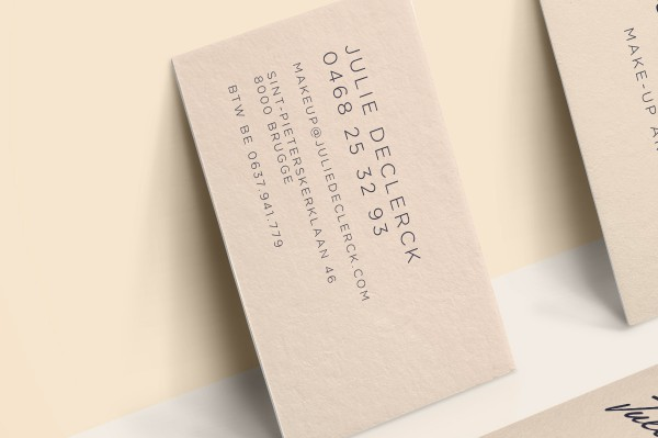 Julie Declerck Business Card Back